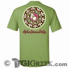 TGI Greek Tshirt - Alpha Gamma Delta - Squirrel Tshirt