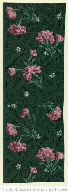 Papier peint d 39 inspiration art nouveau motif floral art noveau pinte - Papier peint art nouveau ...