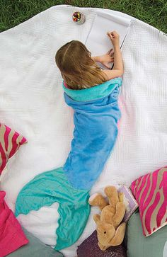 Mermaid Blanket by Blankie Tails - Blue and Aqua
