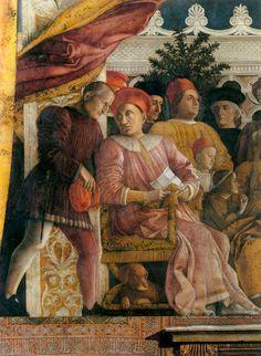 Andrea Mantegna. The north wall: The Court of Gonzaga (detail) 1465-74 Walnut oil on plaster Camera degli Sposi, Palazzo Ducale, Mantua