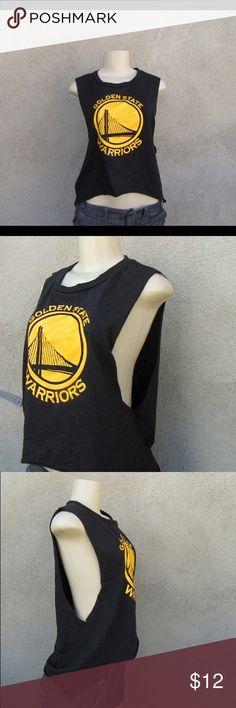 NEW BOYS NBA BLACK YELLOW GOLDEN STATE WARRIORS REFLECTIVE POP T-SHIRT SIZE M