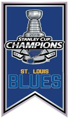 2019 ST. LOUIS BLUES PIN STANLEY CUP CHAMPIONS NHL BANNER STYLE SHIPPING SOON! Nhl Stanley Cup Finals, Stanley Cup Champions, Song Sung Blue, Golden Knights Hockey, Blues Nhl, St Louis Cardinals Baseball, Nhl Logos, Corn Hole, St Louis Blues