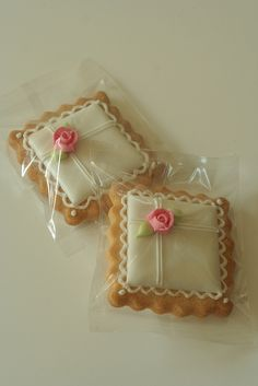 Pink Rose Cookies simple and pretty