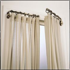 swing out curtain rods LOVE THIS!