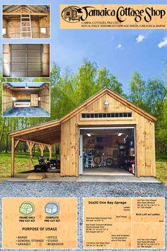 Backyard Barn, Backyard Storage, Backyard Sheds, Outdoor Sheds, Shed Storage, Plan Garage, Garage Shed, Detached Garage, Building A Shed