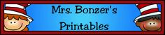 Mrs. Bonzer's Miscellaneous Printables