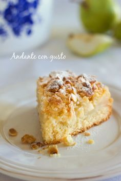 Andante con gusto: Streusel cake con pere e mandorle: ognuno ha i lettori che si merita.