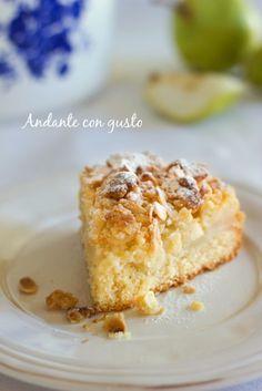Andante con gusto: Streusel cake con pere e mandorle