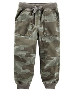 3c2f088e Amazon.com: Oshkosh Boys' Contrasting Waistband with Drawstring Camo Twill  Joggers (6): Clothing