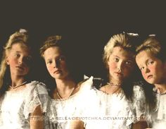 The Romanov sisters - 1906 - They and a younger brother were all MURDERED by communists in 1918.