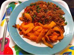 Slimming World Syn Free Prawn Fried Rice with Butternut Squash Chips - Sam Does Stuff