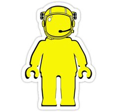 """""""Banksy Astronaut Minifigure by Customize My Minifig"""" Stickers by ChilleeW   Redbubble"""