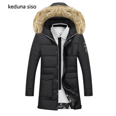 (39.10$)  Watch now - http://ai1hw.worlditems.win/all/product.php?id=32762793482 - Fur collar Winter Jacket Men Cotton Long Jackets Keep Warm Coat Casual Men's thick Down Overcoat Jackets parka homme Brand New