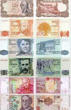 Post Franco Spanish currency in print. Retro, Money Notes, Old Coins, Coin Collecting, Postage Stamps, Childhood Memories, Bowser, History, Humor