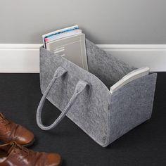 felt magazine storage bag by the contemporary home   notonthehighstreet.com by DIMIDORA