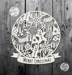 SVG / PDF Christmas Pattern Globe Design  by TommyandTillyDesign