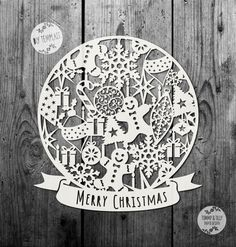 SVG / PDF Christmas Pattern Globe Design  by TommyandTillyDesign