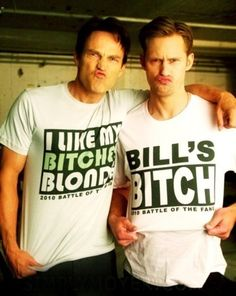 Stephen Moyer & Alexander Skarsgard I can't wait for the new season to start.