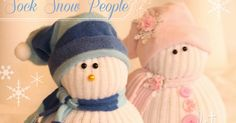 Learn how to make sock people decoration crafts snowman and snow people sock