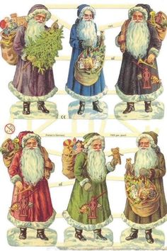 Vintage Christmas Images, Noel Christmas, Victorian Christmas, Father Christmas, Christmas Pictures, Winter Christmas, Christmas Crafts, Christmas Decorations, Xmas