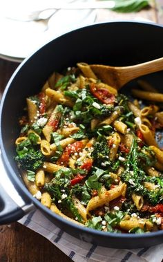 This 20 Minute Lemon Pesto Penne is my. This 20 Minute Lemon Pesto Penne is my husbands favorite pasta! Baby broccoli oven roasted tomatoes and fresh lemon and basil. Beef Recipes, Italian Recipes, Vegetarian Recipes, Cooking Recipes, Healthy Recipes, Penne Recipes, Vegetarian Pesto Pasta, Recipies, Healthy Dinners For Two