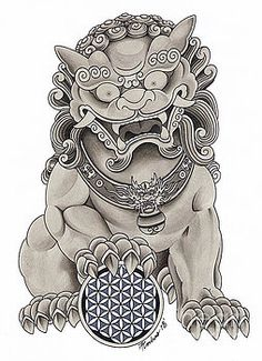 New tattoo dragon chinese foo dog 15 ideas Tribal Tattoos, Asian Tattoos, Tattoos Skull, Head Tattoos, Trendy Tattoos, Sleeve Tattoos, Cool Tattoos, Hannya Tattoo, 4 Tattoo