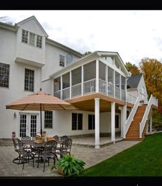 Deck stairs & patio