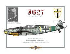 Major Dr. Peter Werfft-Wessely Gruppenkommandeur of III./JG 27 Total of 26 air kills.