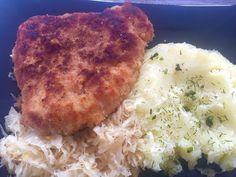Kotlet z ziemniaczkami Mashed Potatoes, Cauliflower, Recipies, Pork, Food And Drink, Chicken, Vegetables, Ethnic Recipes, Polish