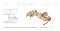 Apartment Design, Design Plan Of Pamplona 15 With Brown Wooden Wall As Partition Design Hight Cost: Apartment Refurbishment in Pamplona by Iñigo Beguiristain Pamplona, Chinese Architecture, Architecture Drawings, Architecture Details, Autocad, Partition Design, Partition Ideas, Wall Partition, Study Room Design