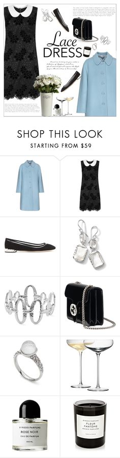 """Lace dress"" by little-curly-juli ❤ liked on Polyvore featuring Miu Miu, Dolce&Gabbana, Ippolita, Gucci, Alexis Bittar, LSA International, Byredo and lacedress"