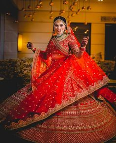 , Shades of red and orange bridal lehenga…, There are different rumors about the annals of the wedding dress; Wedding Lehenga Designs, Lehenga Wedding, Designer Bridal Lehenga, Indian Bridal Lehenga, Indian Bridal Outfits, Indian Bridal Fashion, Indian Bridal Wear, Bridal Dresses, Bridal Dupatta