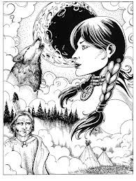 Coloring page- native american