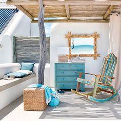 Trend Accesories - Meubles déco d'intérieur – Bord de mer Deco Marine, Balcony Design, Recycled Furniture, Beach House Decor, Coastal Decor, Seaside Decor, Coastal Living, Home Accessories, Sweet Home