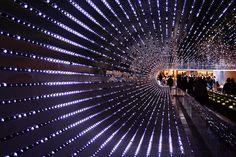 National Gallery of Art - Leo Villareal's LED Light Tunnel