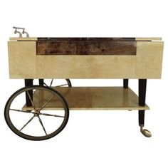 Check out this item at One Kings Lane! Aldo Tura Parchment Serving Cart
