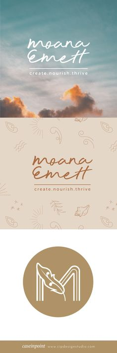 Branding package completed for Moana Emett life coach. Custom illustrations designed as a part of the branding assets. Custom icon design and logo mark. #wellnessbranding #brandingdesign #logodesign #personalbrnading #cipdesignstudio Design Agency, Icon Design, Web Design, Business Branding, Logo Branding, Graphic Design Branding, Logo Design, Custom Icons, Moana
