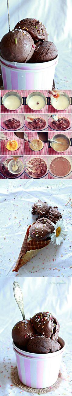 Helado de chocolate y Guiness - http://www.mamapapillon.com/