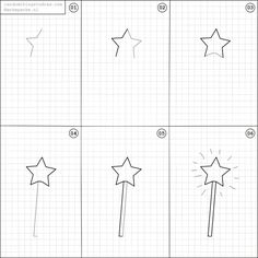 How to draw a magic wand.