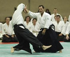 Aikido technique showing how easy it is to control and take another person's balance.