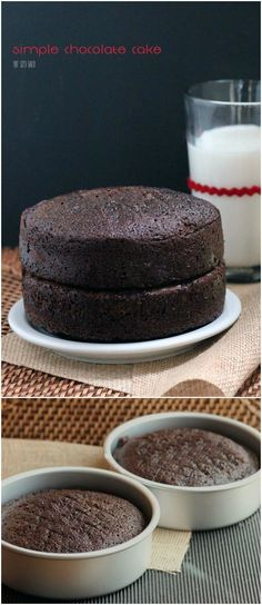 Rich and Chocolaty - Easy Chocolate Cake from scratch. Makes two 9 round cakes. Two Layer Chocolate Cake Recipe, Vanilla Coffee Cake Recipe, Chocolate Cake From Scratch, Decadent Chocolate Cake, Cake Recipes From Scratch, Easy Cake Recipes, Chocolate Desserts, Fun Desserts, Delicious Desserts