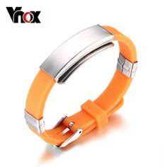 Timed promotions Adjustable Silicone Bracelet Bangle Rubber Sports Wristband Jewelry