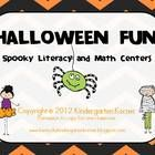 A Halloween themed unit packed with literacy and math centers. Here is what you get:9 Literacy Games/Centers:-Sentence Scramble - sight word sent...