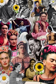 EDUCATIONAL ACTIVITY: Frida Kahlo iDEAS to make a collage with the students. They select their images and the creative design they want. Then they present it orally to the class. Kahlo Paintings, Frida And Diego, Frida Art, Mexican Artists, Diego Rivera, Feminist Art, Educational Activities, Belle Photo, Collage Art