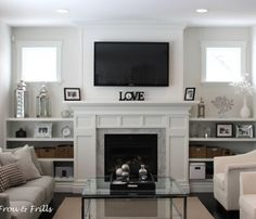 Angelic Home From The Ground Up Fireplace Built Ins Inspiration