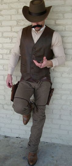 this is actually close to what I'm thinking. I might even let him wear his gun and holster :P maybe not hats though