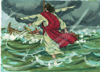 Jesus Walks on Water Bible story