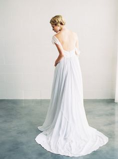 Full silk chiffon dress with contrasting, draped charmuse and crepe sweetheart bodice