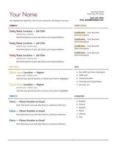 Resume for A Babysitter Resume for A Babysitter . Resume for A Babysitter . How to Write A Babysitting Ad Best Spanish Certification Cover Letter For Resume, Cover Letter Template, Letter Templates, Santa Reply Letters, Santa Letter, Brochure Examples, Good Resume Examples, Babysitter Resume, Functional Resume