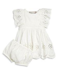 Stella McCartney Kids - Infant's Ruffled Eyelet Dress & Bloomers